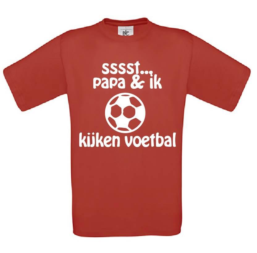 Ssst Papa en Ik kijken Voetbal