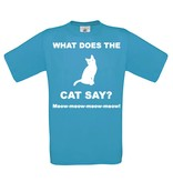 What does the cat say