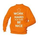Work hard play hard be nice