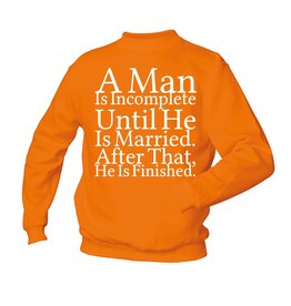 A man is incomplete - married