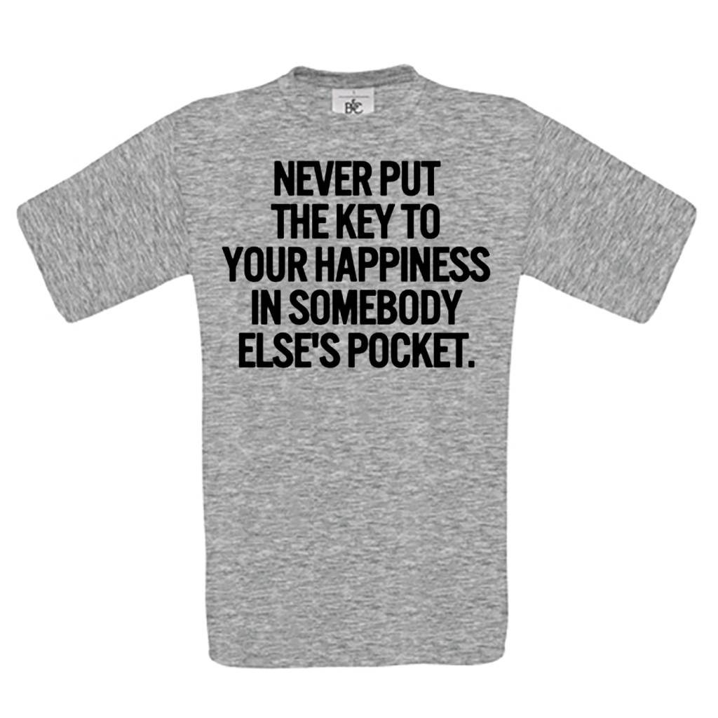 Never put the key to your happiness in somebody else's pocket.