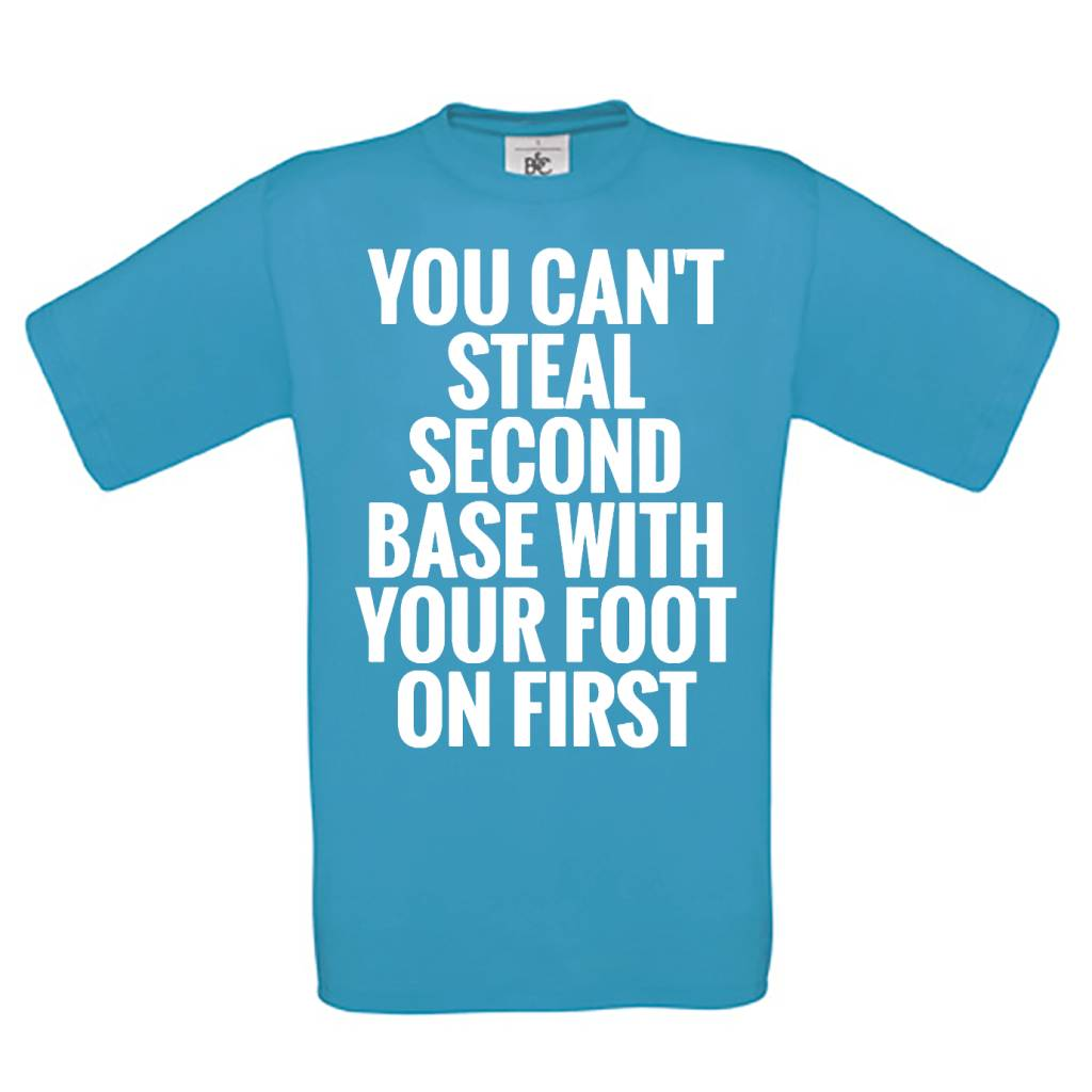 You can't steal second base with your foot on first