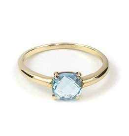 Navarro Ring - Gold + Blue Topaz