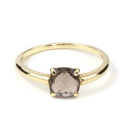Navarro Ring - Gold + Smokey Topaz