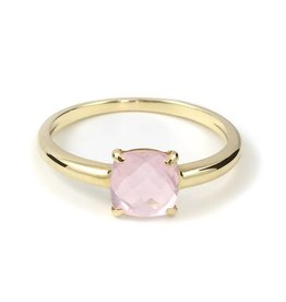 Navarro Ring - Goud + Rose Quartz
