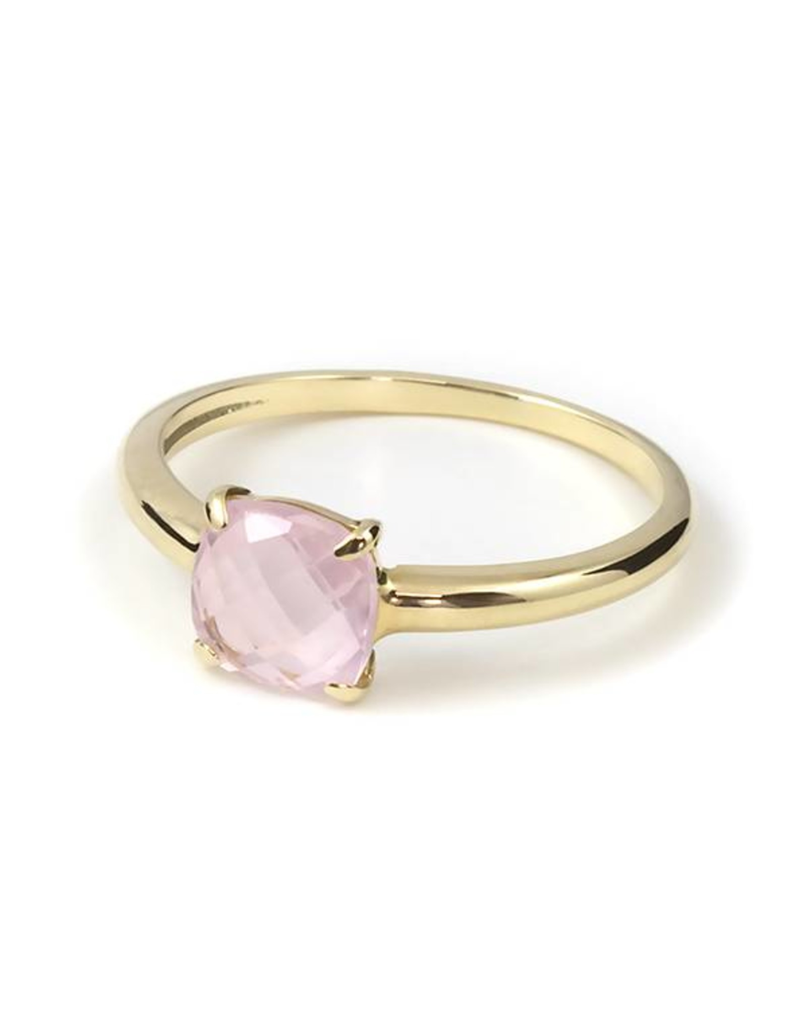 Navarro Ring - Gold + Rose Quartz