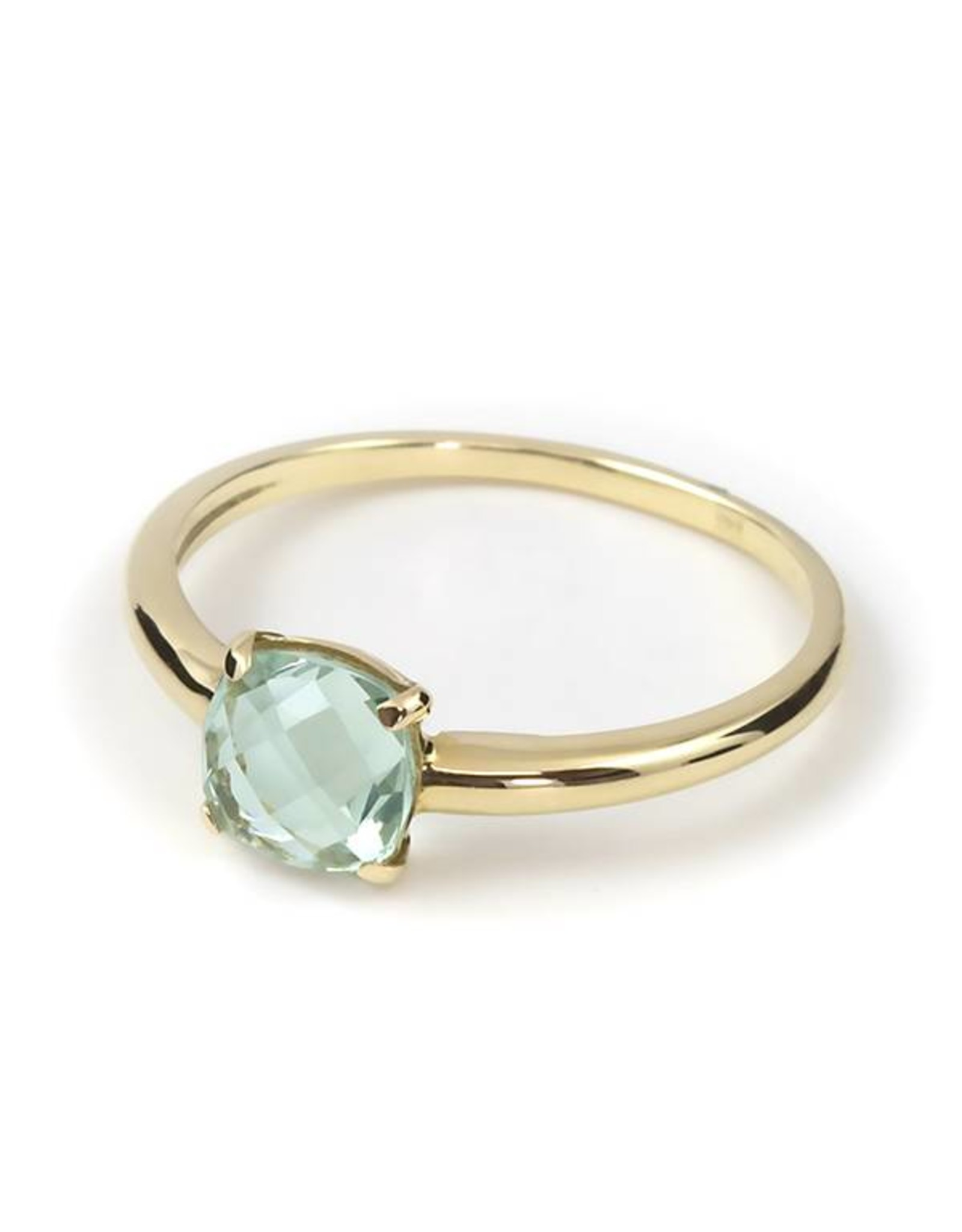 Navarro Ring - Gold + Green Amethyst