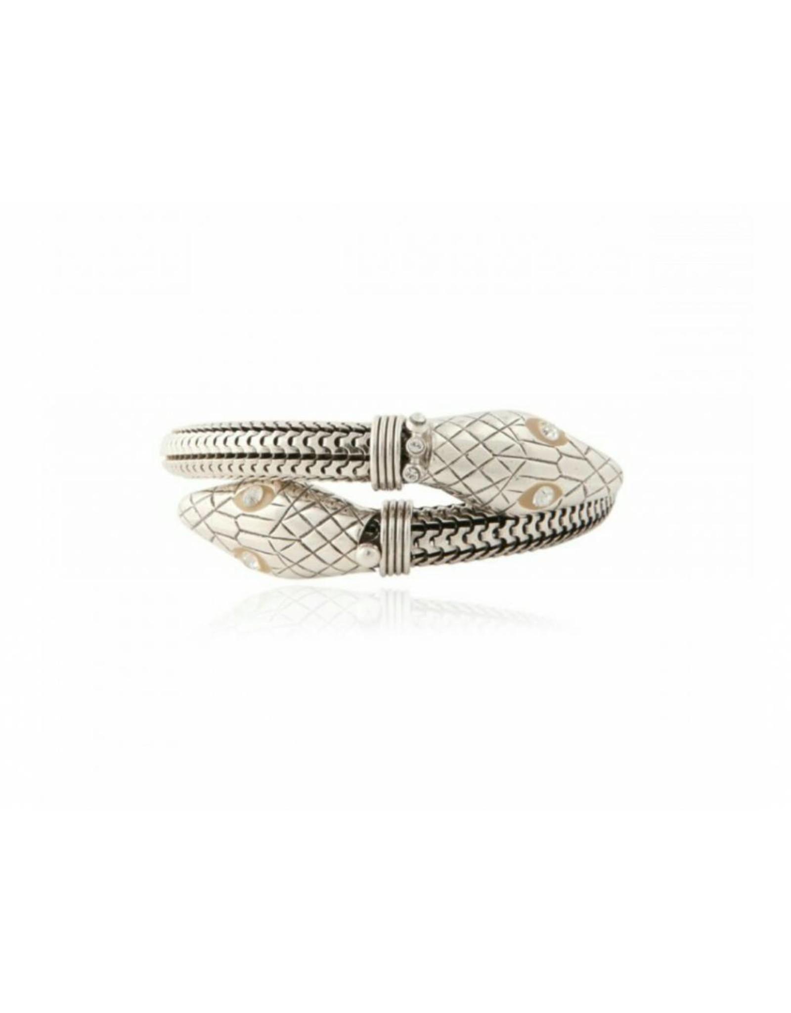 GAS Bijoux Armband Slang Verzilverd
