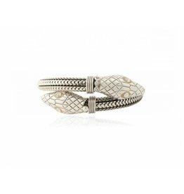 GAS Bijoux Bracelet Snake Silver PLated