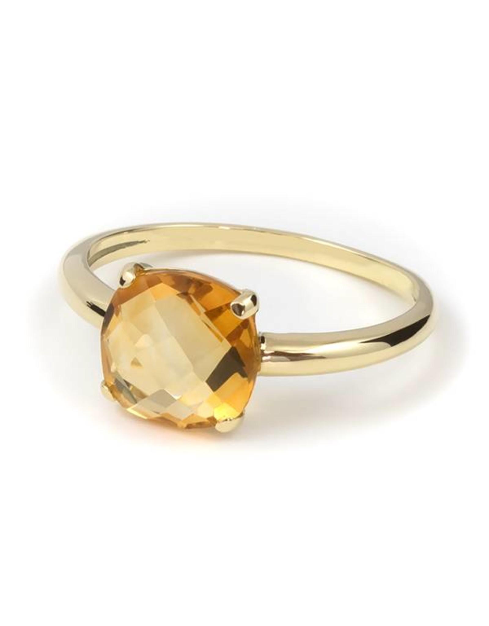 Navarro Ring - Gold + Citrine