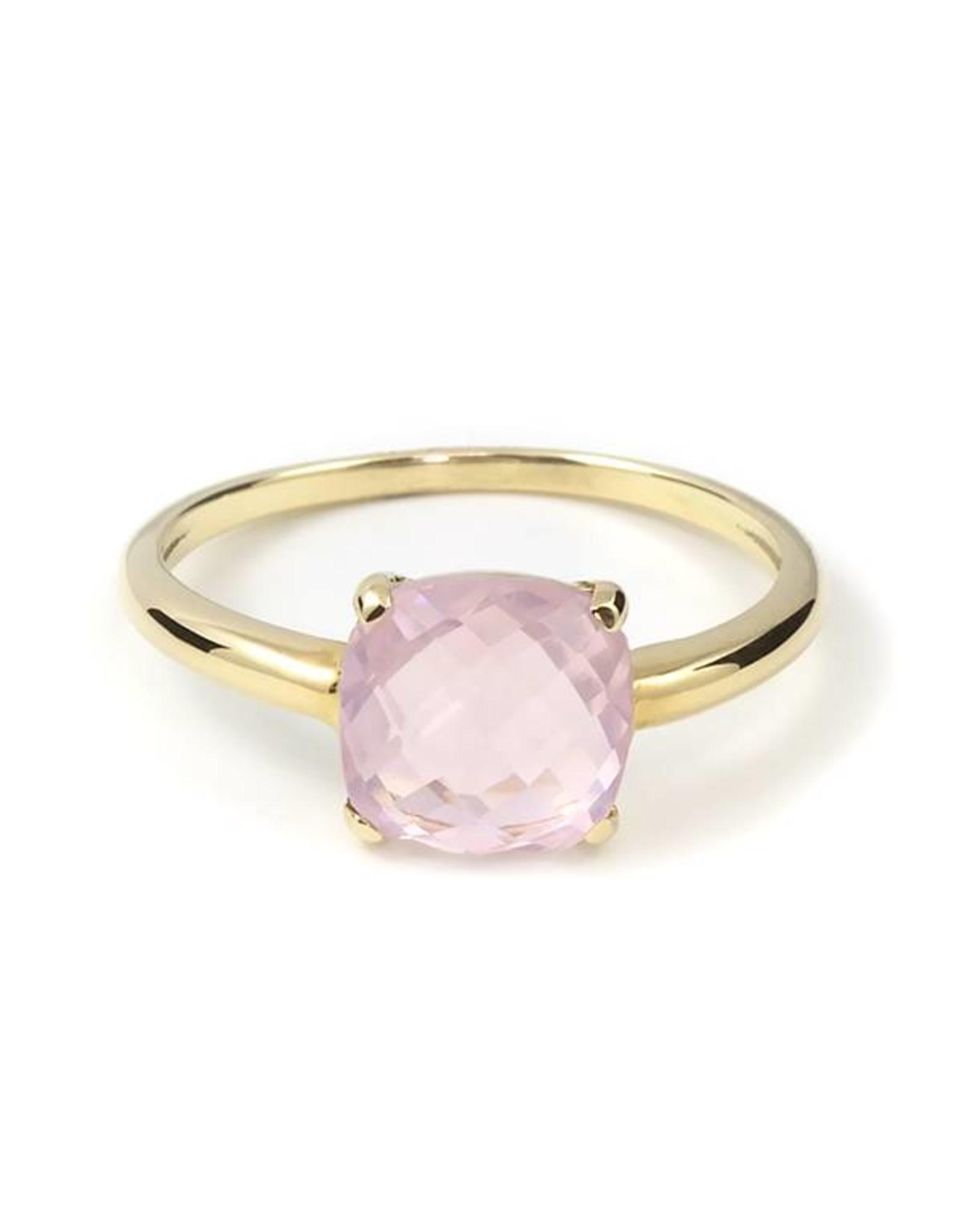 Navarro Ring - Gold + Rose Quartz