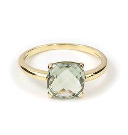 Navarro Ring - Goud - Groene amethist