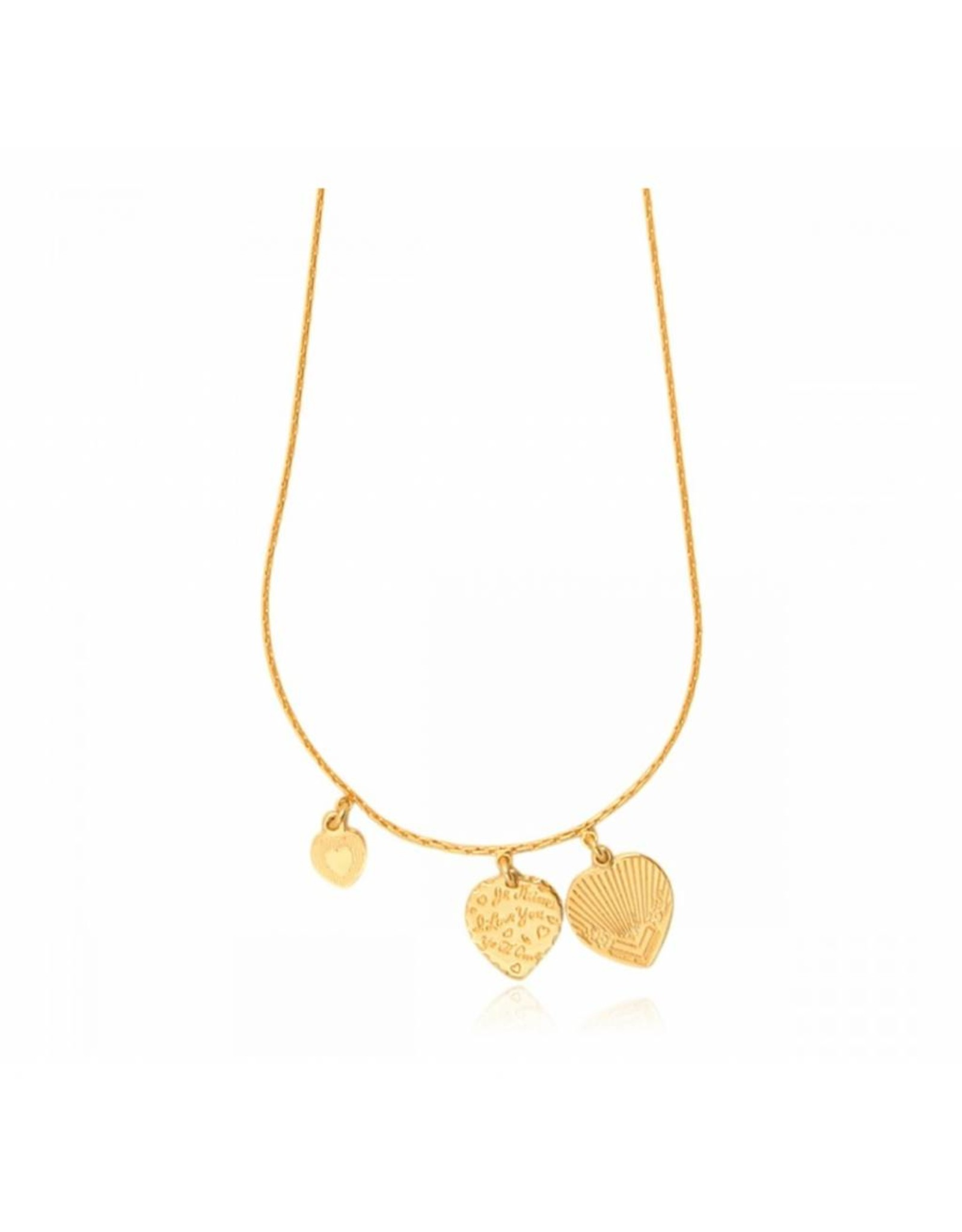 GAS Bijoux Necklace Hearts Gold PLated