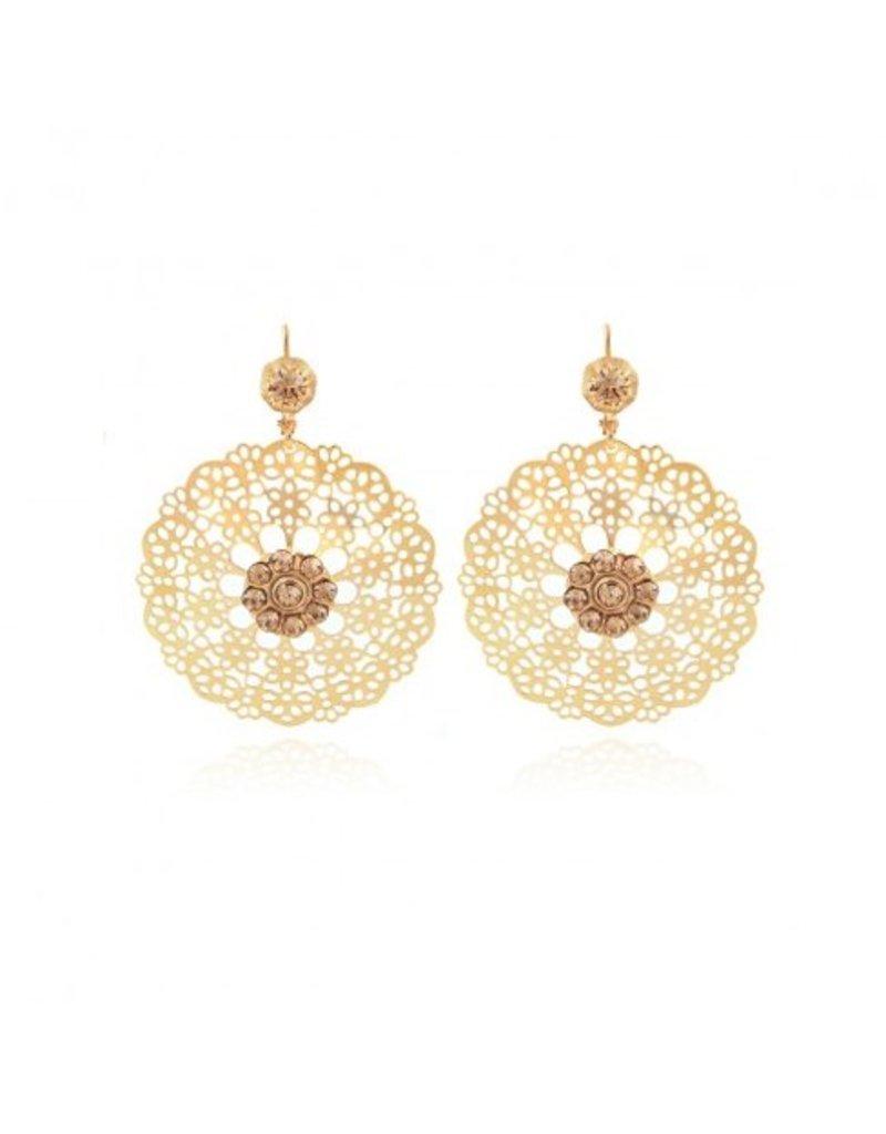 GAS Bijoux Earrings Flocon Gold