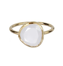Bo Gold Ring - gold + chalcedony natural