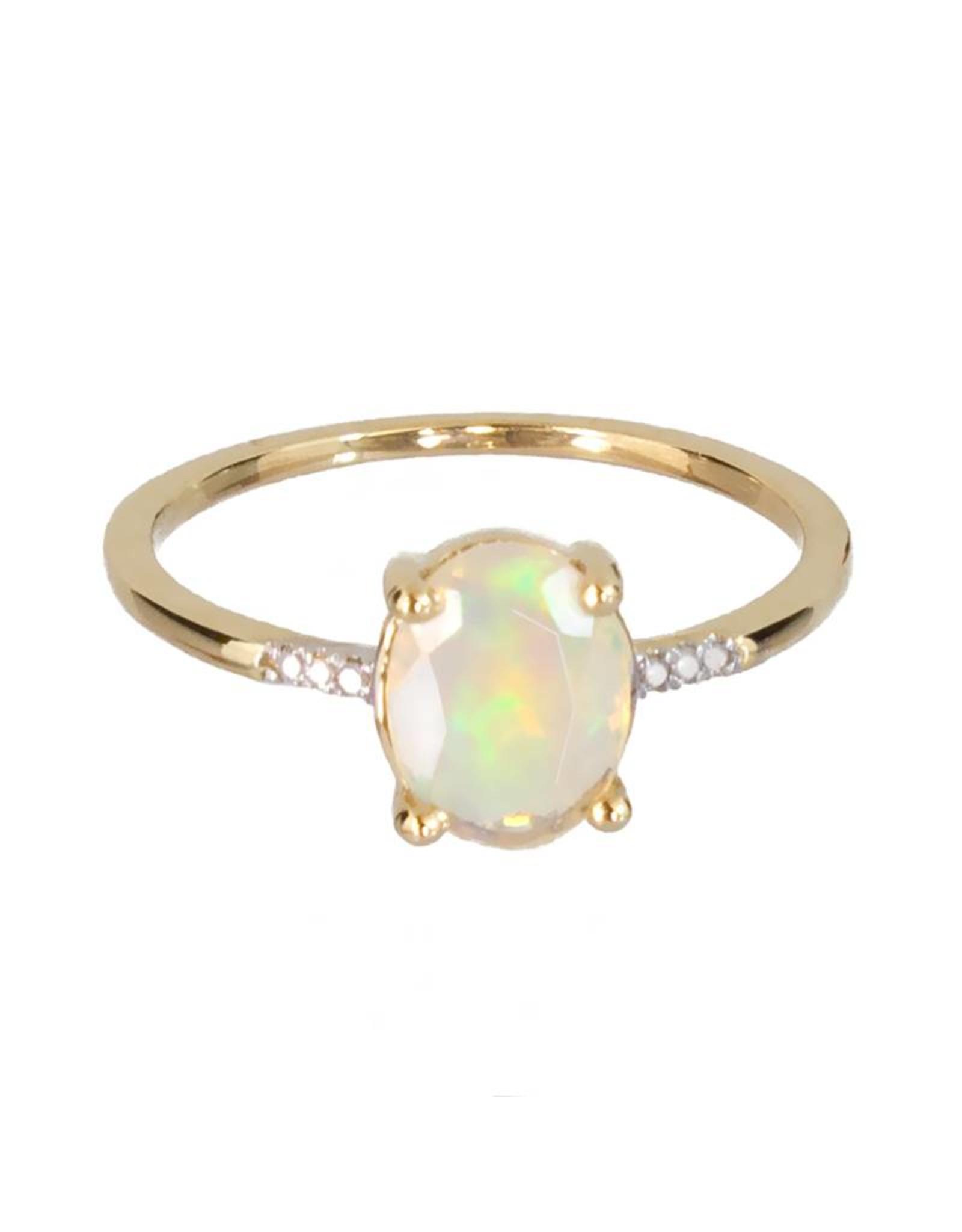 Bo Gold Ring - Goud - Opaal