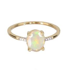 Bo Gold Ring - gold + opal