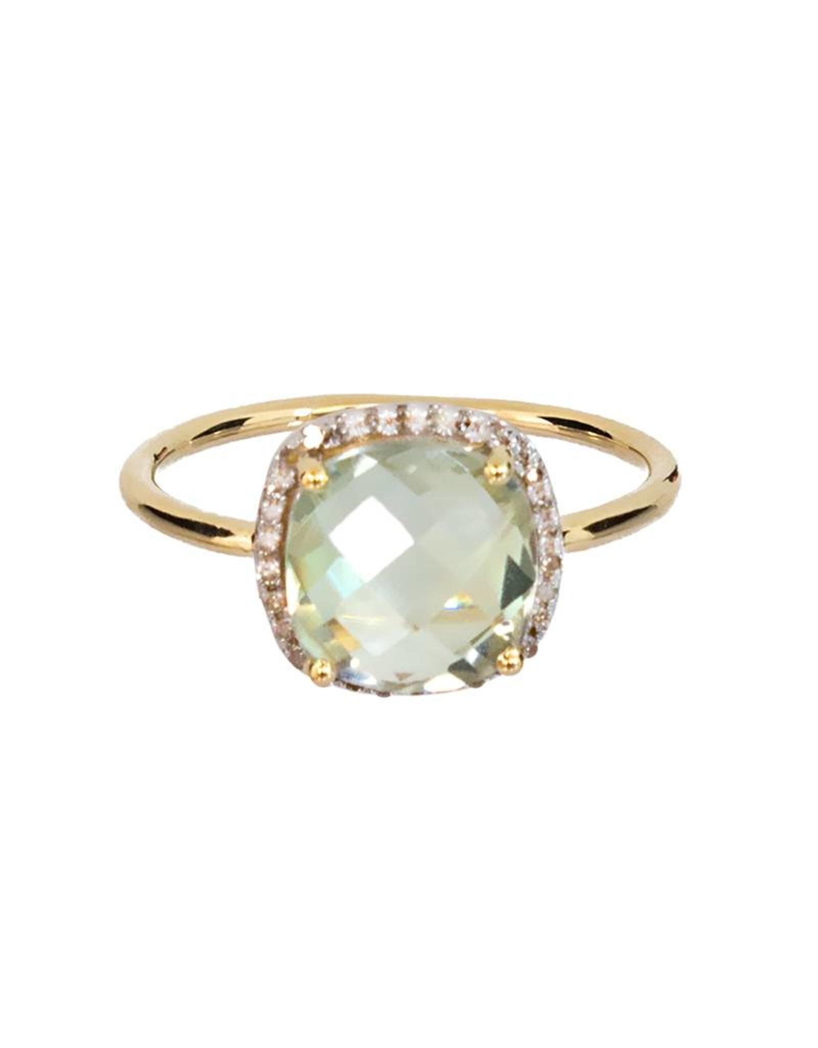 Bo Gold Ring - Gold - Green amethyst