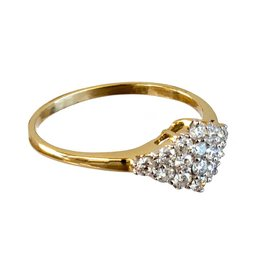 Bo Gold Ring - Goud - Diamantjes