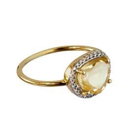 Bo Gold Ring - Gold - Citrin - Diamonds
