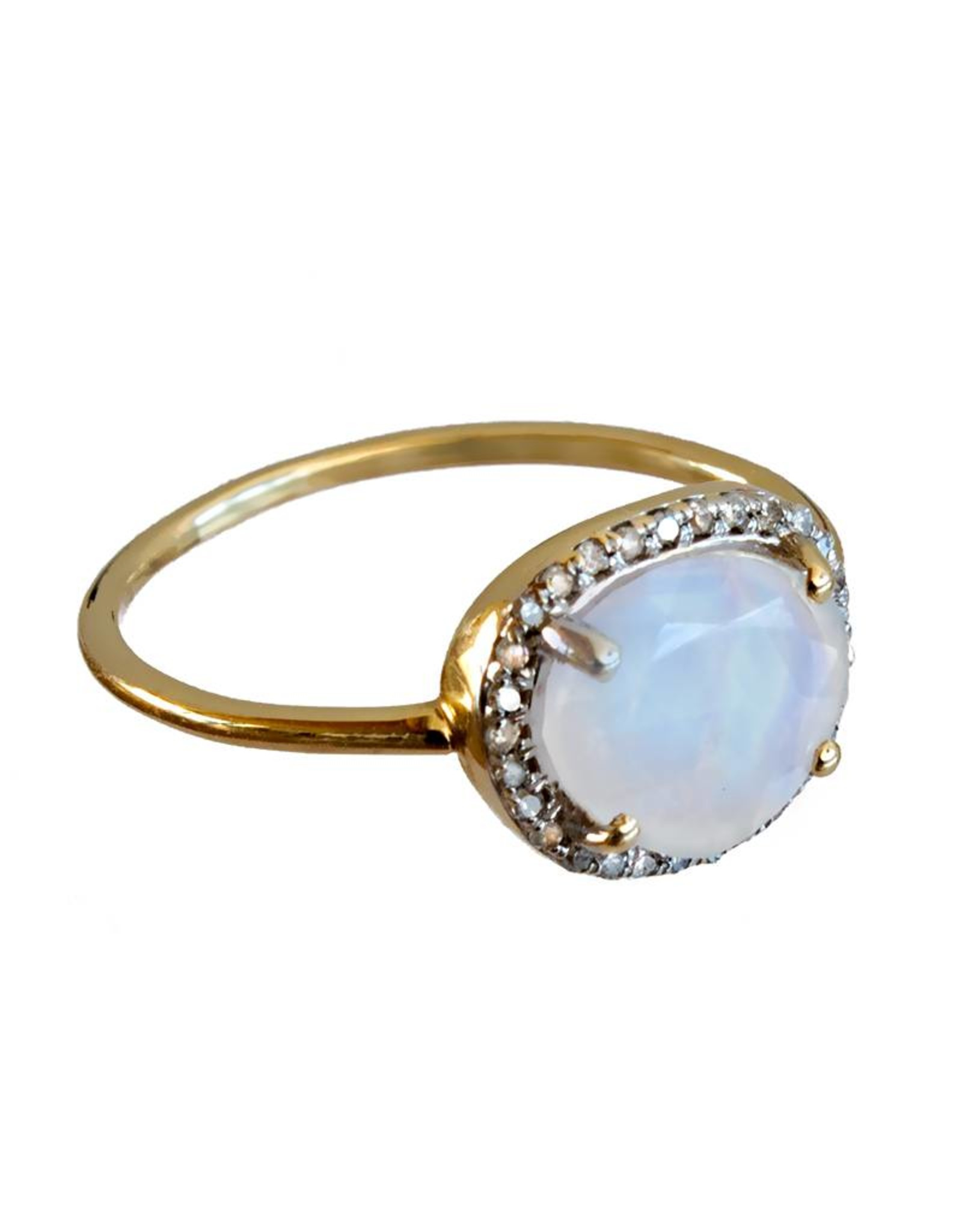 Bo Gold Ring - Gold - Moonstone - Diamonds