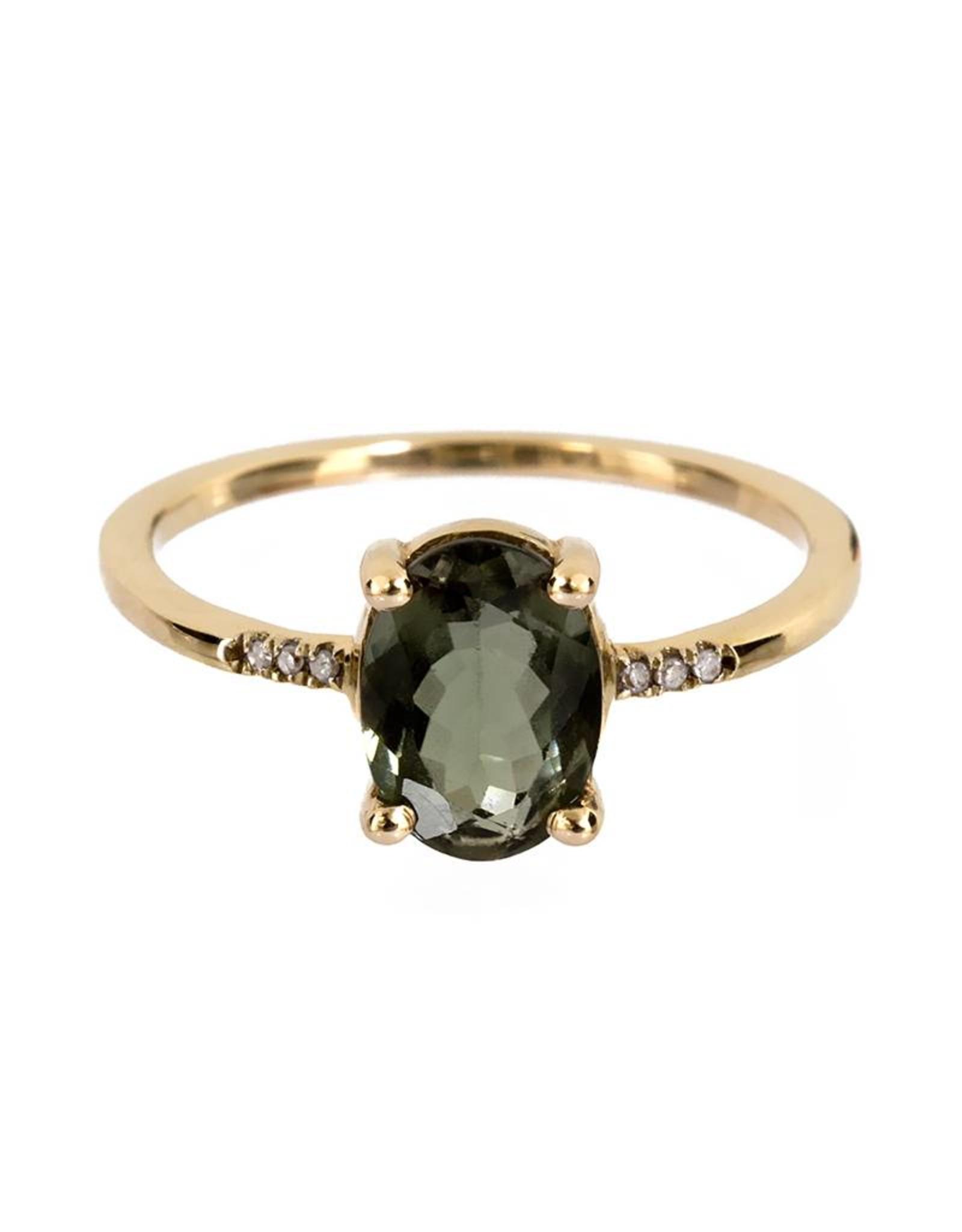Bo Gold Ring - Goud - Toermalijn