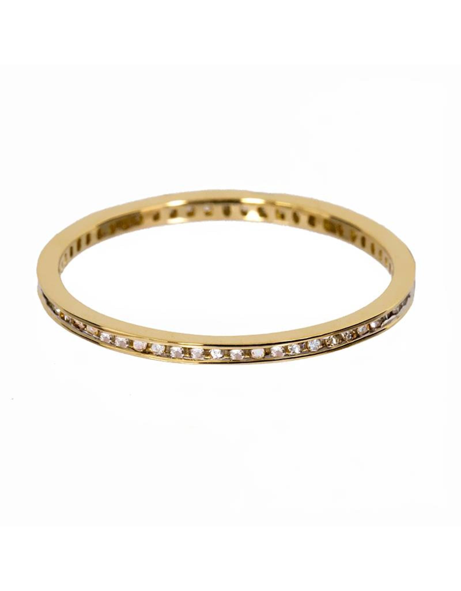 Bo Gold Ring - Goud - Diamantjes