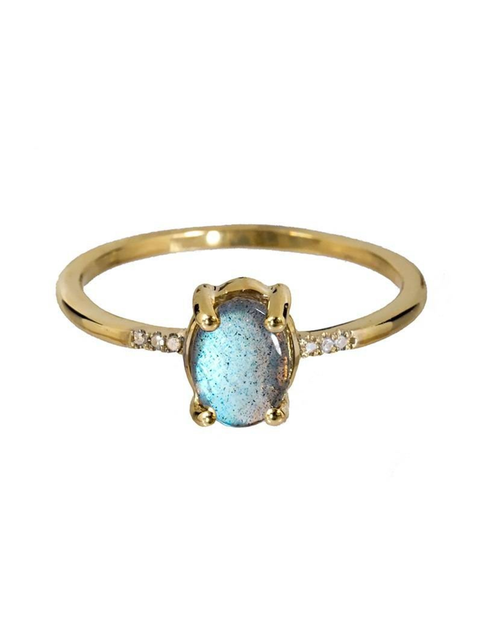 Bo Gold Ring - Goud - Labradoriet