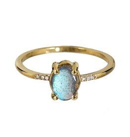 Bo Gold Ring - gold - labradoriet