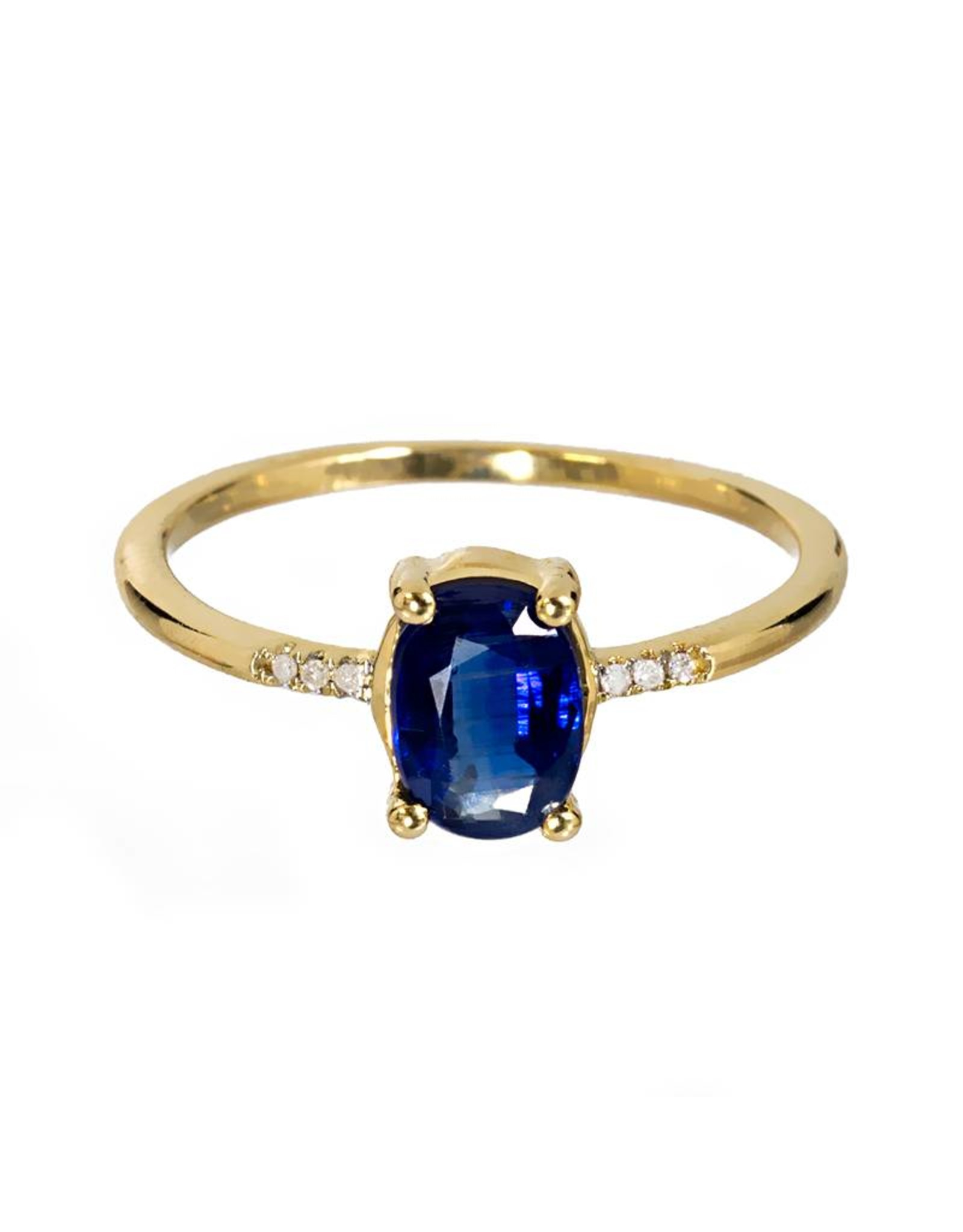 Bo Gold Ring - Goud - Kyaniet - Diamant