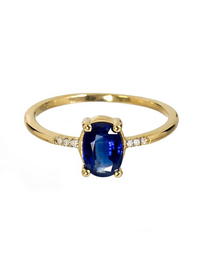 Bo Gold Ring - Gold - Kyaniet - Diamant