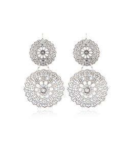 GAS Bijoux Earrings Flocon Double Silver