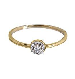 Bo Gold Ring - Gold - Diamonds