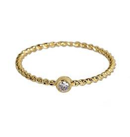 Bo Gold Ring - Gold - Diamond