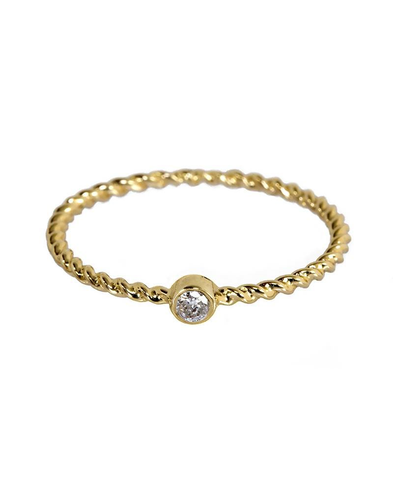 Bo Gold Ring - Goud - Diamant