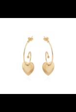 GAS Bijoux Earrings Heart Gold