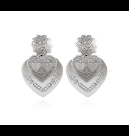 GAS Bijoux Earrings Heart Silver