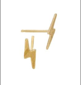 Bo Gold Earring - Gold lightning