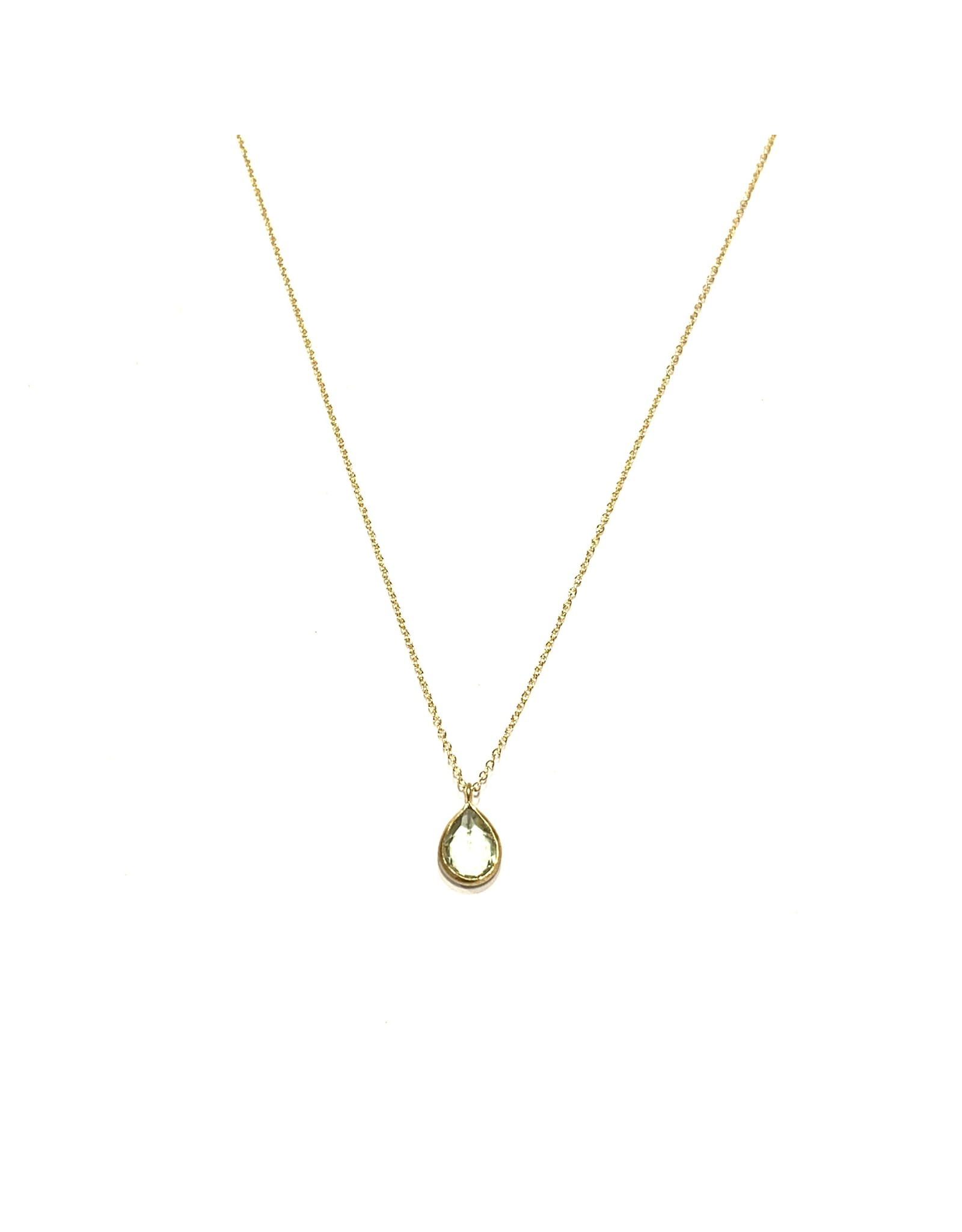 Bo Gold Necklace - Gold - Green Amethyst
