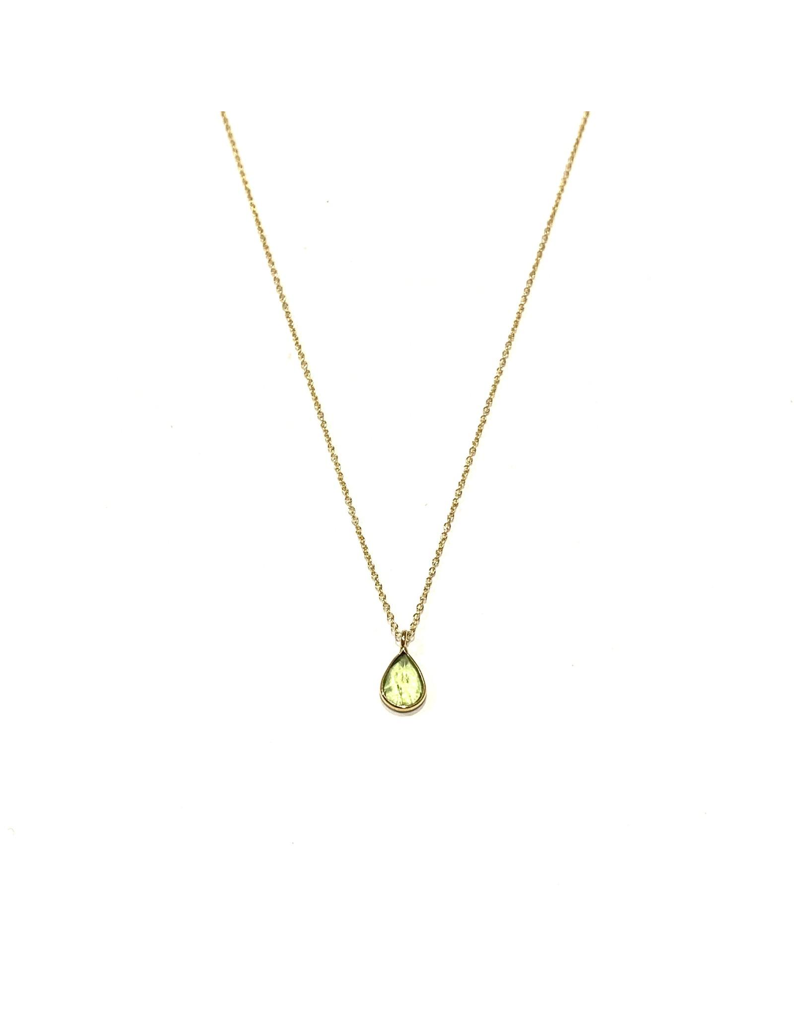 Bo Gold Ketting - Goud - Peridot