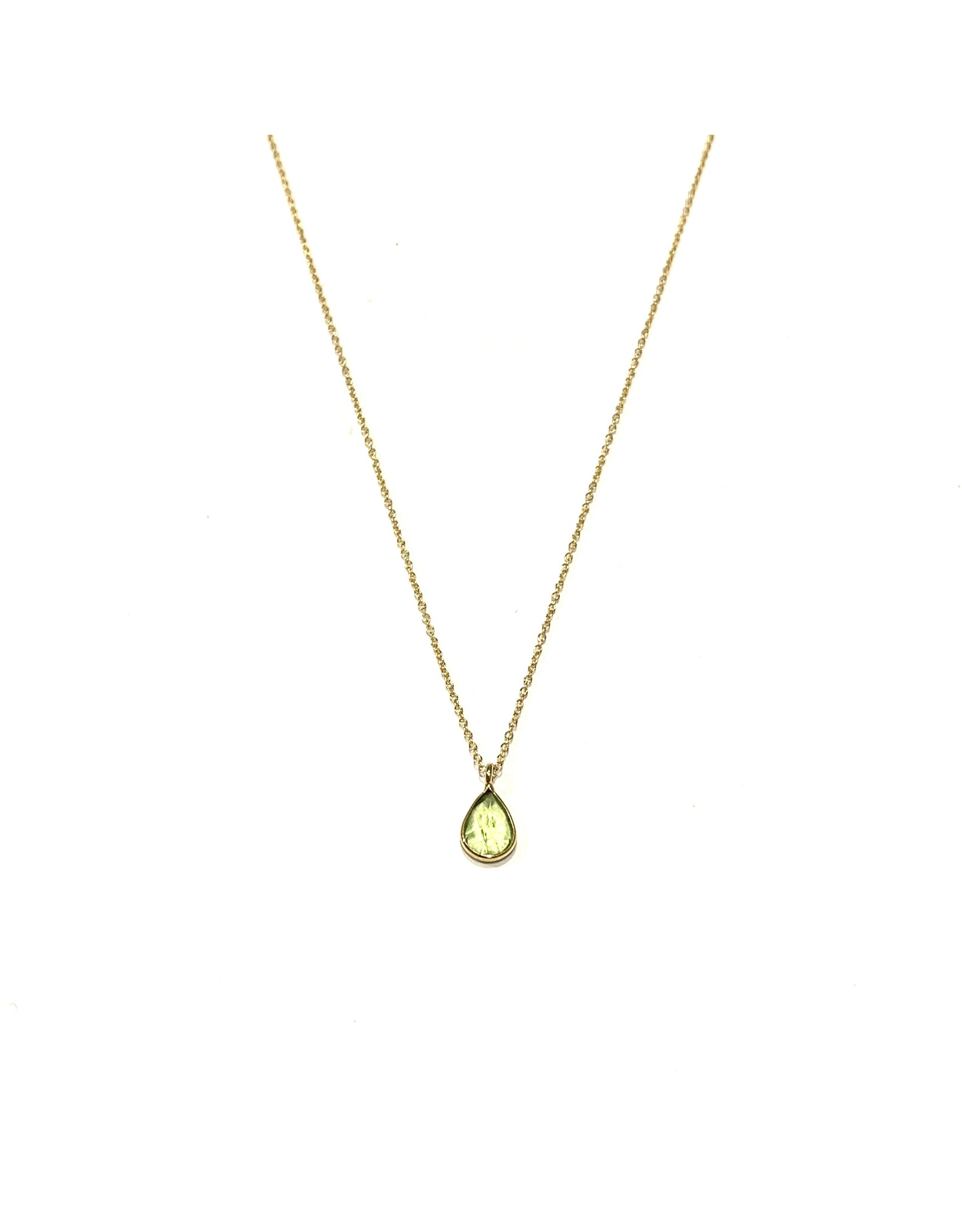 Bo Gold Necklace - Gold - Peridot