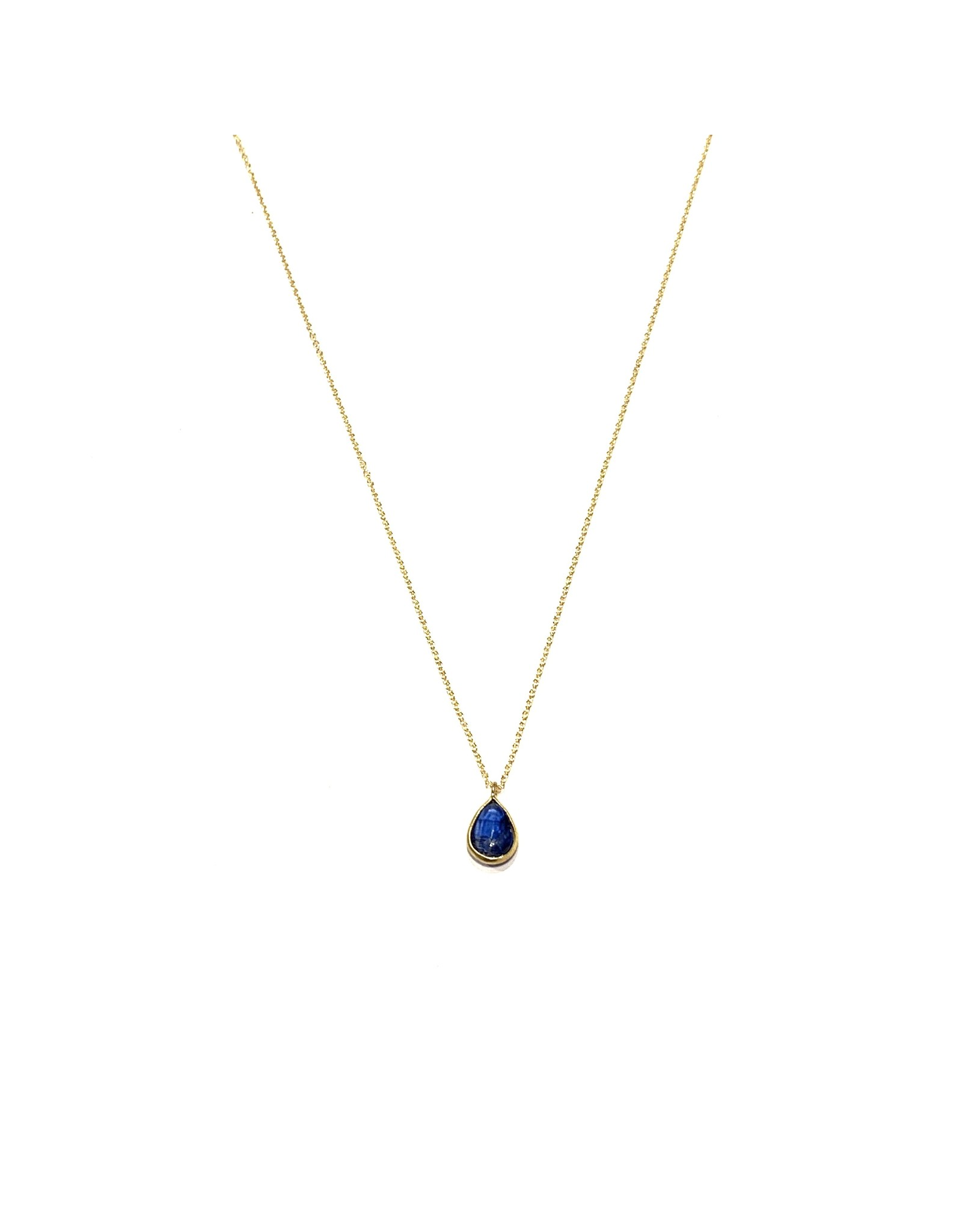 Bo Gold Necklace - Gold - Kyanite