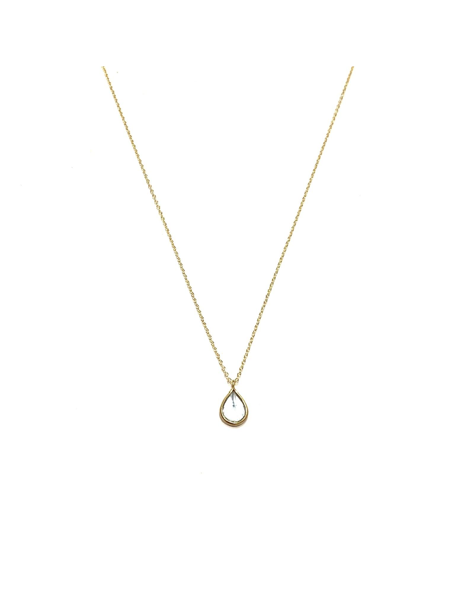 Bo Gold Necklace - Gold - Blue Topaz
