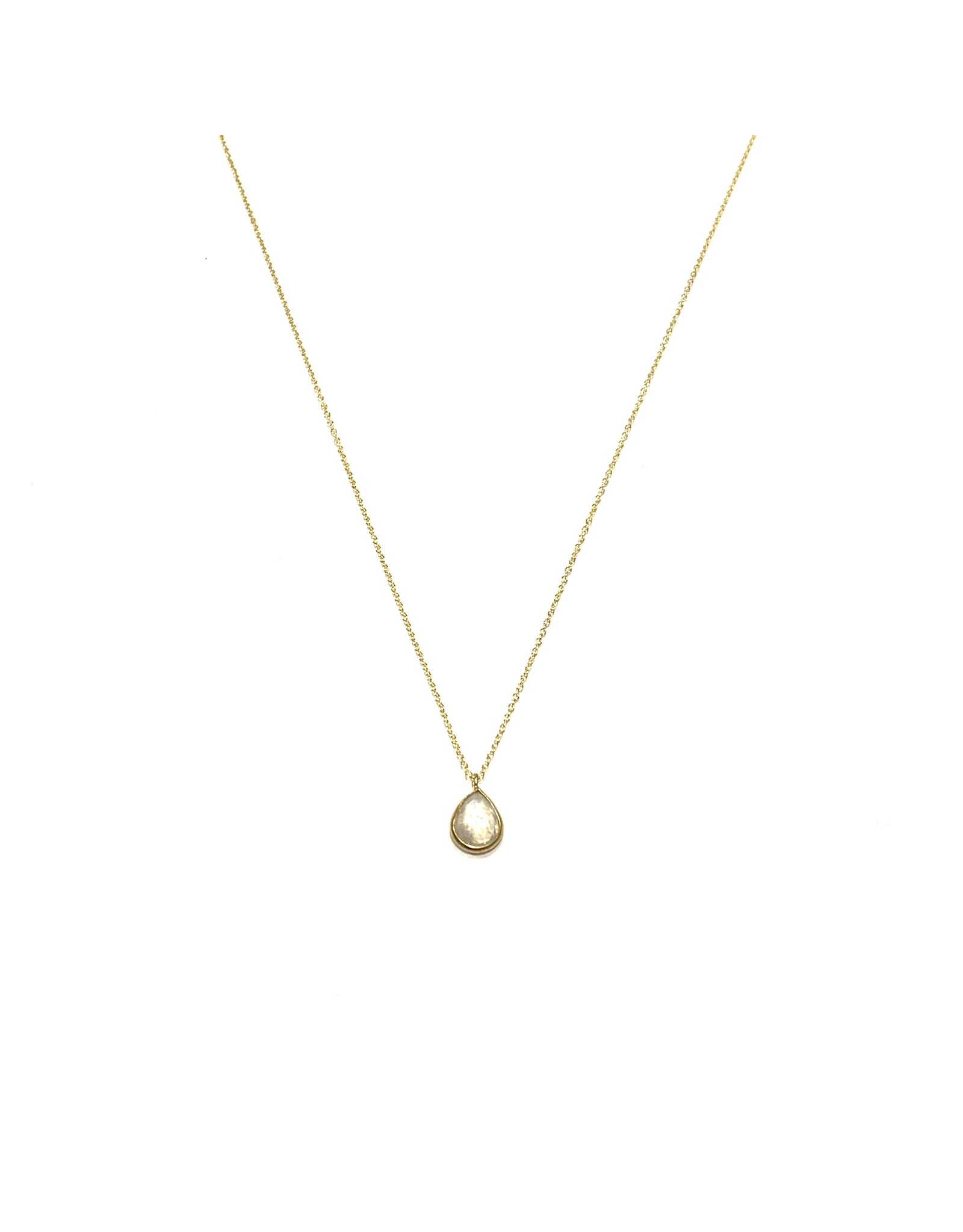 Bo Gold Necklace - Gold - Moonstone