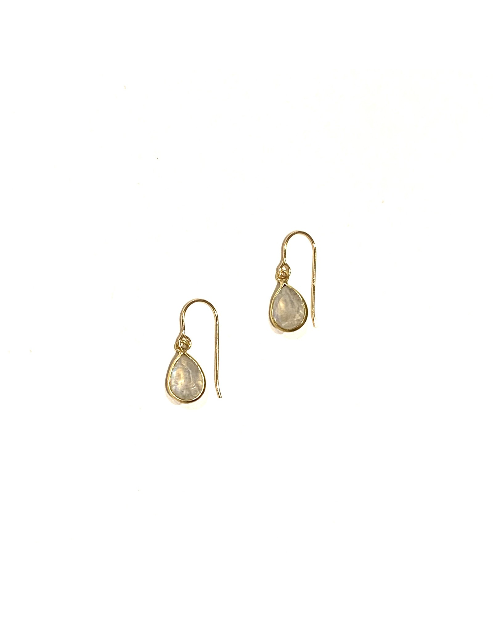 Bo Gold Earrings - Gold - Moonstone