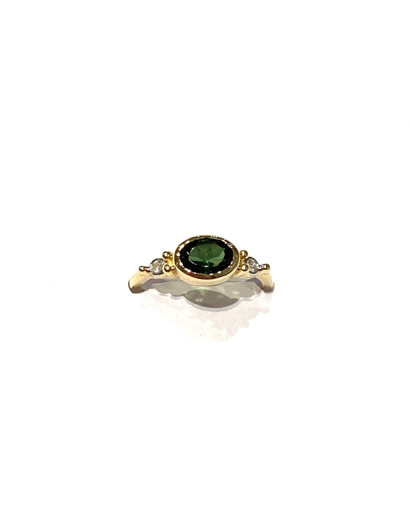 Bo Gold Ring - Goud - Toermalijn - Diamant