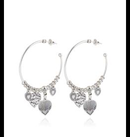 GAS Bijoux Earrings Love Hoop Silver