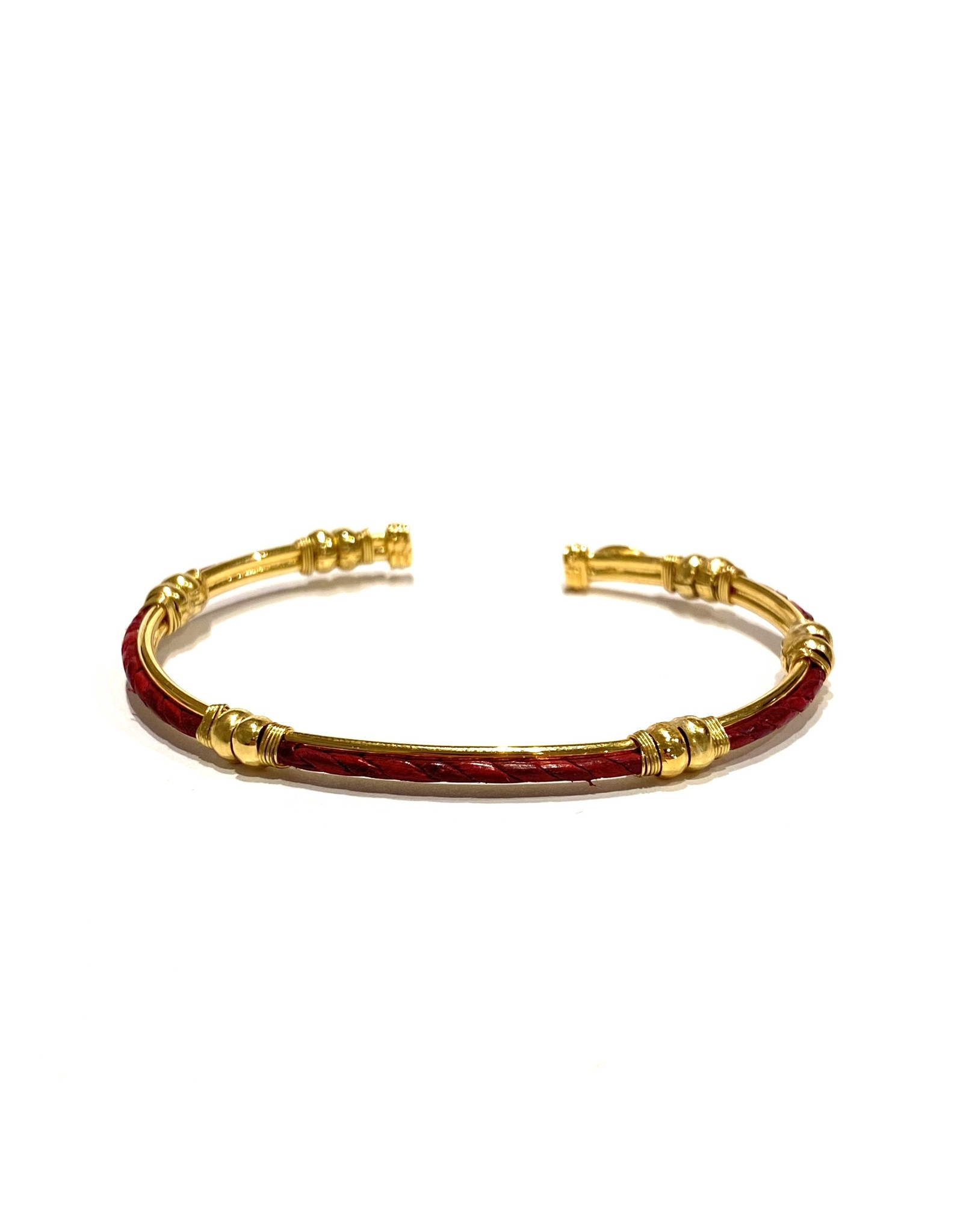 GAS Bijoux Bracelet Zanzibar Leather Gold