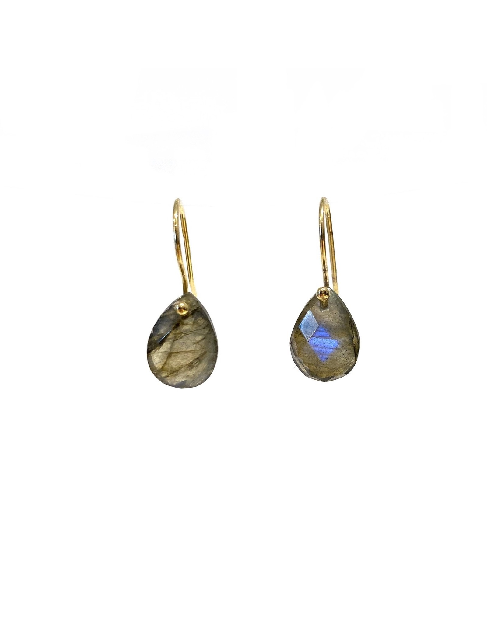 Bo Gold Earrings - Gold - Labradorite