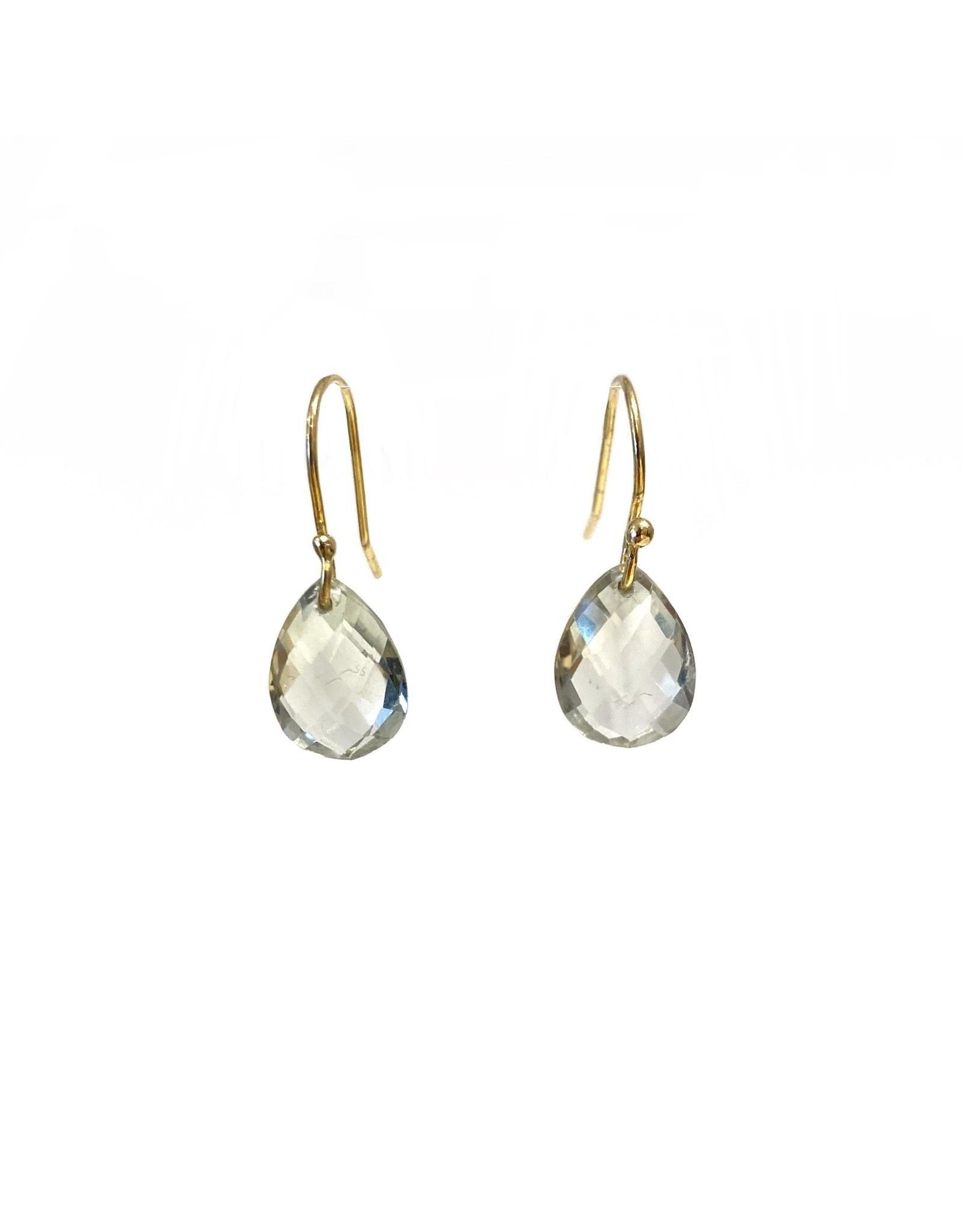Bo Gold Earrings - Gold - Green Amethyst